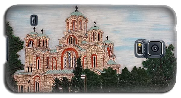 Galaxy S5 Case featuring the painting Saint Marko Church  Belgrade  Serbia  by Jasna Gopic