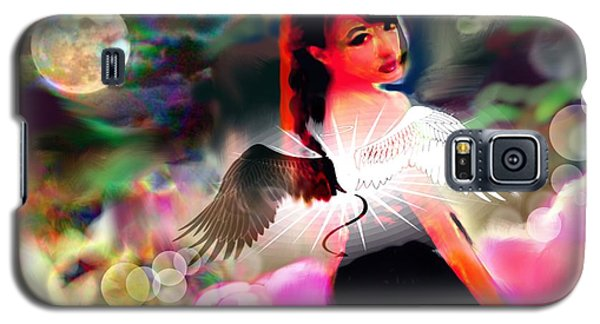 Galaxy S5 Case featuring the digital art Saint Or Sinner #3 by Diana Riukas