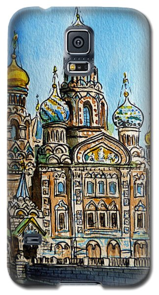 Saint Petersburg Russia The Church Of Our Savior On The Spilled Blood Galaxy S5 Case by Irina Sztukowski