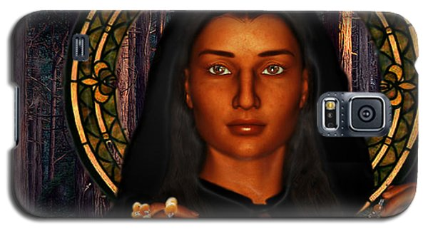 Saint Tekakwitha The Lily Of The Mohawks Galaxy S5 Case by Suzanne Silvir