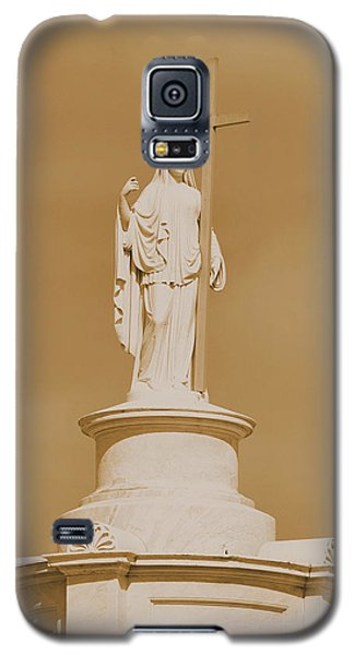 Galaxy S5 Case featuring the photograph Saint With A Cross by Nadalyn Larsen
