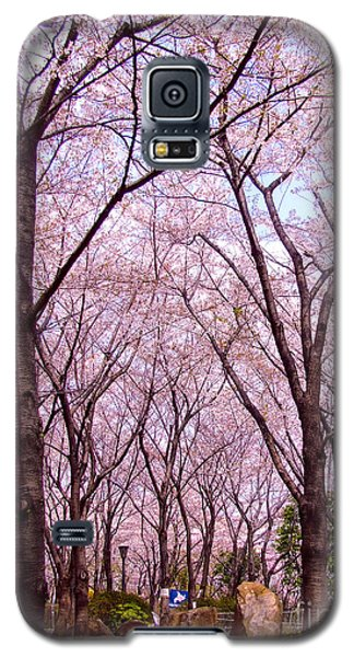 Galaxy S5 Case featuring the photograph Sakura Tree by Andrea Anderegg