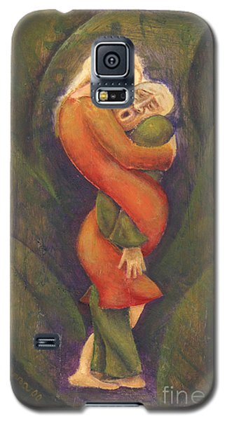 Galaxy S5 Case featuring the painting Sally Who Loves Too Much... by Anna Skaradzinska
