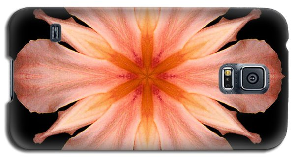Salmon Daylily I Flower Mandala Galaxy S5 Case by David J Bookbinder