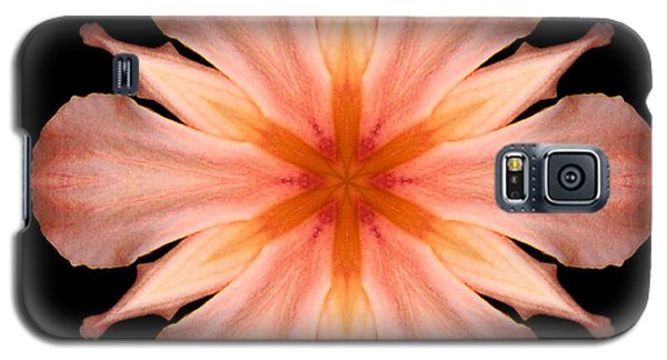 Salmon Daylily I Flower Mandala Galaxy S5 Case