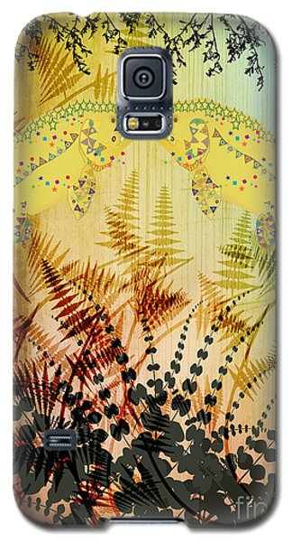 Galaxy S5 Case featuring the digital art Salmon Love Gold by Kim Prowse