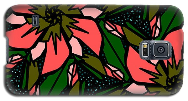 Galaxy S5 Case featuring the digital art Salmon-pink by Elizabeth McTaggart