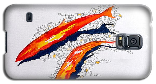 Galaxy S5 Case featuring the painting Salmon Run by Richard Faulkner