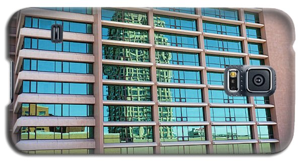 Galaxy S5 Case featuring the photograph Salt Lake City Architecture Reflection by Ely Arsha