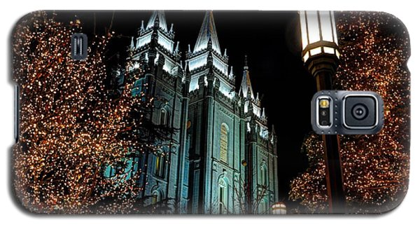 Salt Lake City Mormon Temple Christmas Lights Galaxy S5 Case
