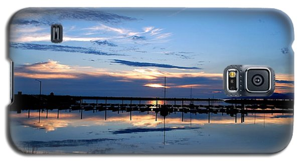Galaxy S5 Case featuring the photograph Salt Lake Marina Sunset by Matt Harang
