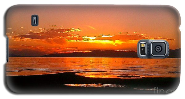 Galaxy S5 Case featuring the photograph Salt Lakes A Fire by Chris Tarpening