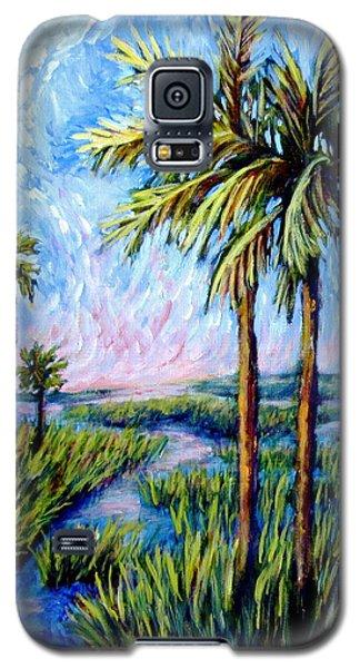 Salt Marsh Palms Galaxy S5 Case