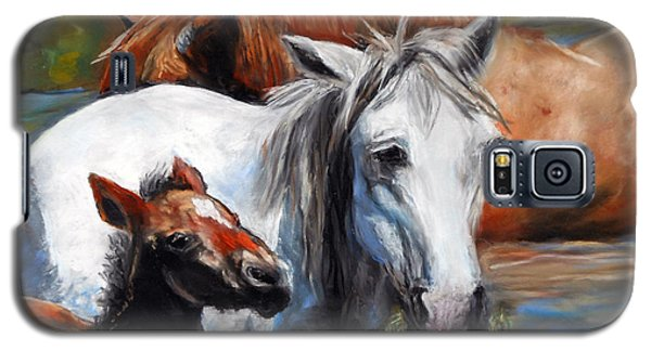 Galaxy S5 Case featuring the pastel Salt River Foal by Karen Kennedy Chatham