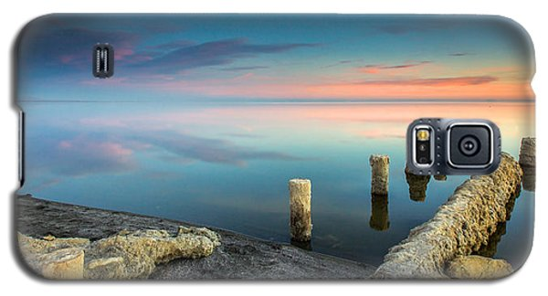 Galaxy S5 Case featuring the photograph Salton Sea Reflections by Robert  Aycock