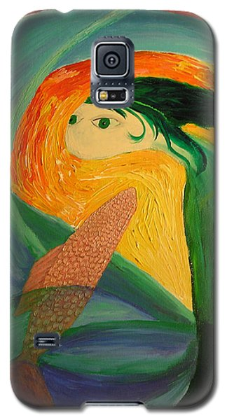 Galaxy S5 Case featuring the painting Sam And Mannie by Lola Connelly