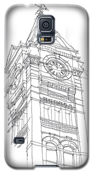 Galaxy S5 Case featuring the drawing Samford Hall Sketch by Calvin Durham