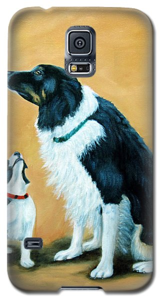 Galaxy S5 Case featuring the painting Sammy And Breagh by Fran Brooks