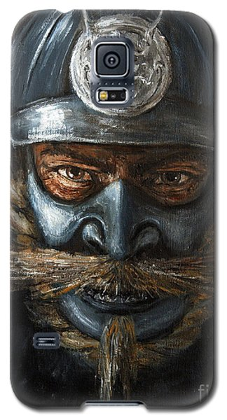 Galaxy S5 Case featuring the painting Samurai by Arturas Slapsys