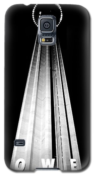 San Antonio Tower Of The Americas Hemisfair Park Space Needle Tower Restaurant Black And White Galaxy S5 Case by Shawn O'Brien