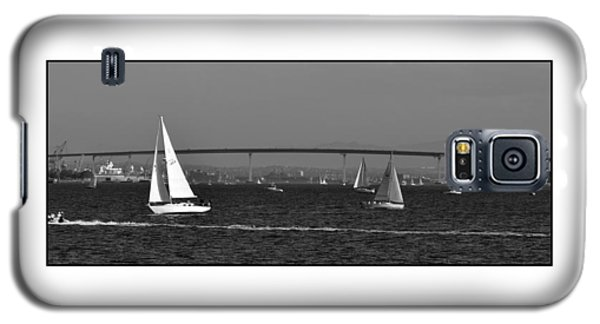 Galaxy S5 Case featuring the digital art San Diego Bay Sailing 2 by Kirt Tisdale
