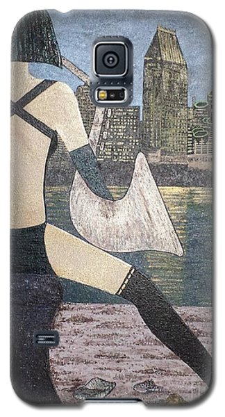 Galaxy S5 Case featuring the painting San Diego California by Jasna Gopic