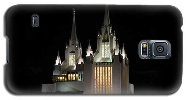 Galaxy S5 Case featuring the photograph San Diego Mormon Temple At Night by Nathan Rupert