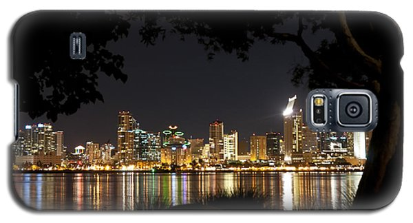 Galaxy S5 Case featuring the photograph San Diego Skyline Framed 1 by Lee Kirchhevel
