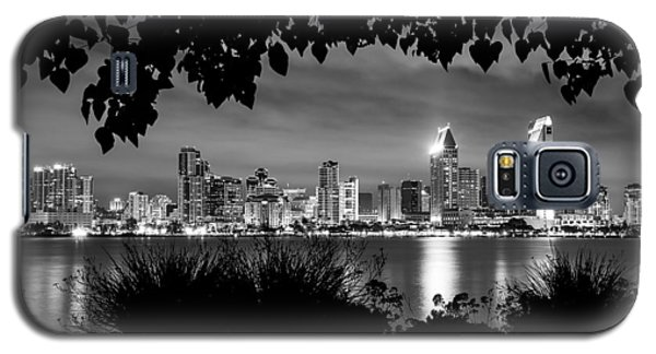 San Diego Skyline Framed 2 Black And White Galaxy S5 Case