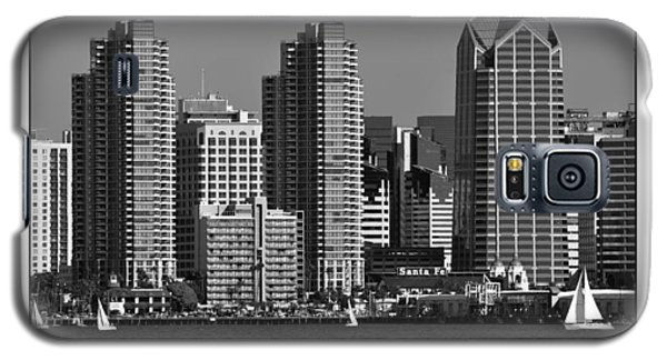 Galaxy S5 Case featuring the digital art San Diego Skyline by Kirt Tisdale