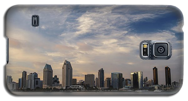 Galaxy S5 Case featuring the photograph San Diego Skyline Sunset 1 by Lee Kirchhevel