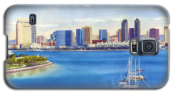 San Diego Skyline With Meridien Galaxy S5 Case by Mary Helmreich