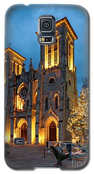 San Fernando Cathedral And Christmas Tree Main Plaza - San Antonio Texas Galaxy S5 Case