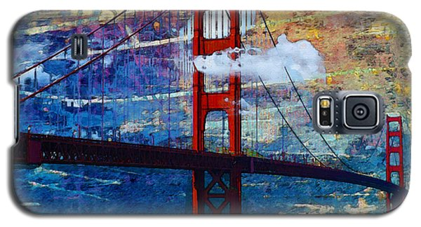 Galaxy S5 Case featuring the painting San Francisco Bridge by Robert Smith