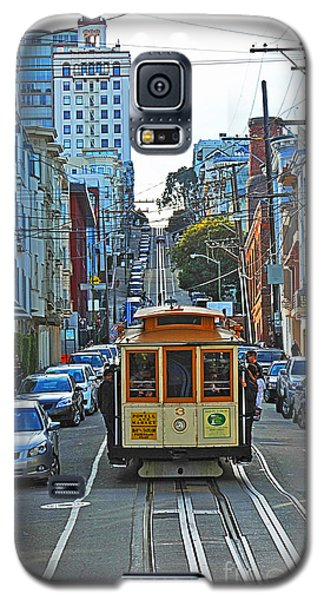San Francisco Cable Car To Powell And Market Streets Galaxy S5 Case by Artist and Photographer Laura Wrede