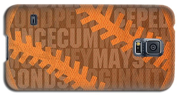 Sport Galaxy S5 Case - San Francisco Giants Baseball Typography Famous Player Names On Canvas by Design Turnpike