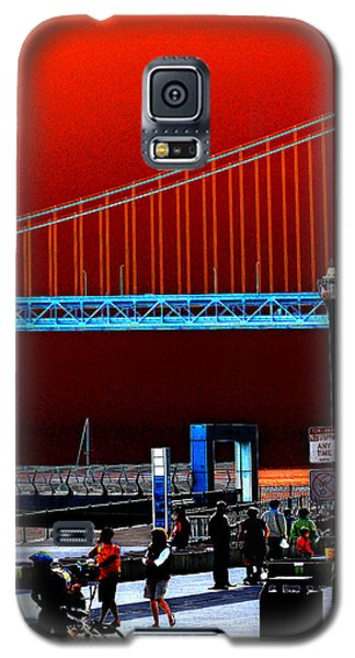 Galaxy S5 Case featuring the photograph San Francisco Unique Processing by Maggy Marsh