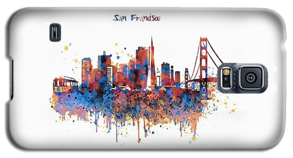 San Francisco Watercolor Skyline Galaxy S5 Case by Marian Voicu