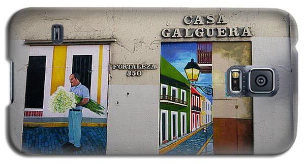San Juan - Casa Galguera Mural Galaxy S5 Case by Richard Reeve