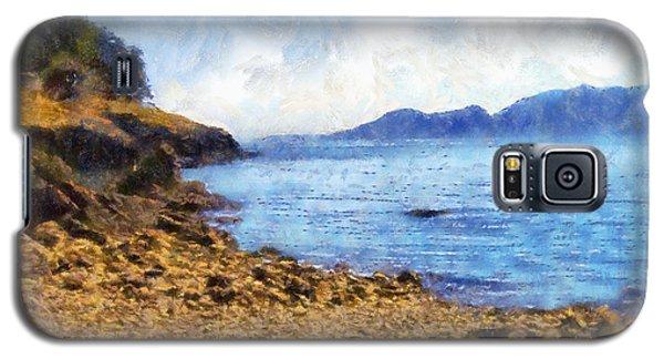 Galaxy S5 Case featuring the digital art San Juan Island Beach by Kaylee Mason