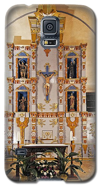 Galaxy S5 Case featuring the photograph San Juan Mission Altar by Andy Crawford