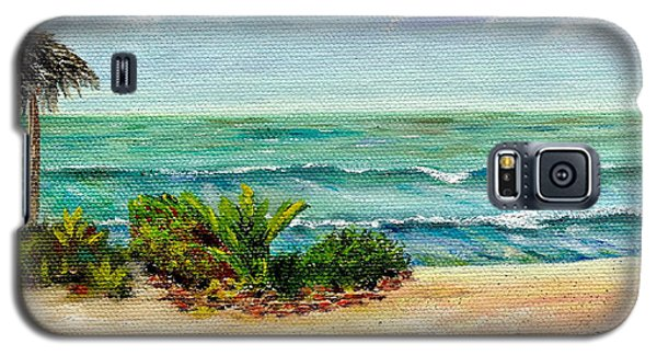 Galaxy S5 Case featuring the painting San Onofre Beach by Mary Scott