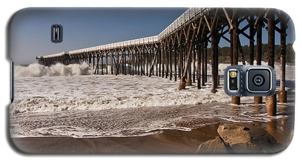Galaxy S5 Case featuring the photograph San Simeon Pier by Lee Kirchhevel