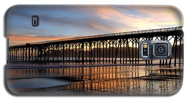 Galaxy S5 Case featuring the photograph San Simeon Pier by Vivian Christopher