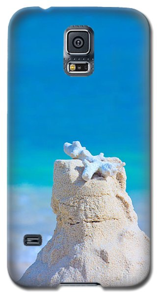 Sand Castle With Coral Against Calm Turquoise Sea Galaxy S5 Case