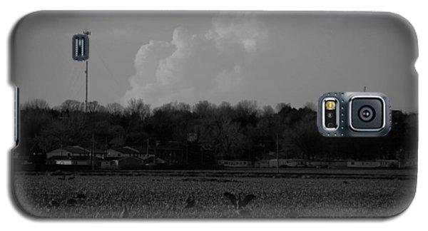 Sand Hill Cranes With Nebraska Thunderstorm Galaxy S5 Case