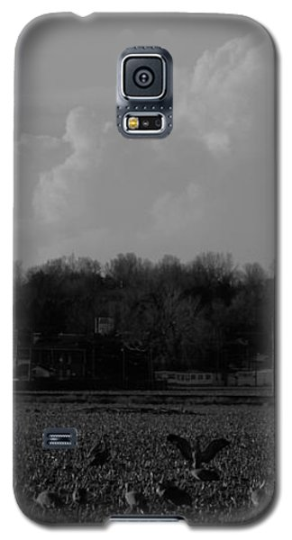 Sand Hill Cranes With Nebraska Thunderstorm Galaxy S5 Case