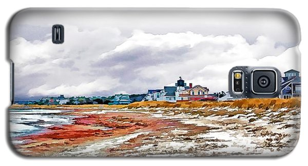 Galaxy S5 Case featuring the photograph Sand Snow And Seaweed Photo Art by Constantine Gregory