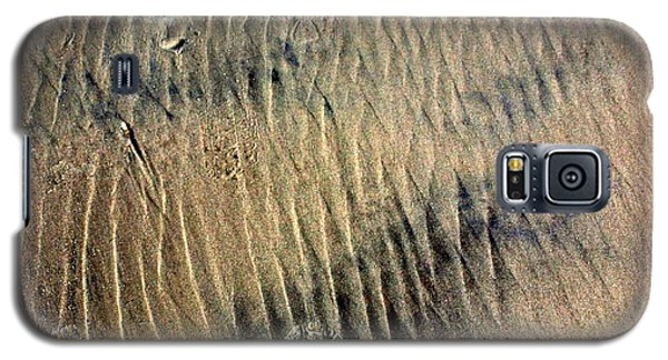 Galaxy S5 Case featuring the photograph Sand Tracks by Irma BACKELANT GALLERIES