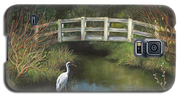 Sandhill Crane At Spring Creek Galaxy S5 Case by Jeanette French